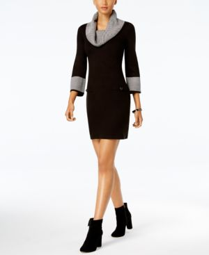 Jessica Howard Cowl-Neck Sweater Dress 5210635