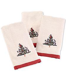 Avanti Spode Christmas Tree 3-Pc. Fingertip Towel Set