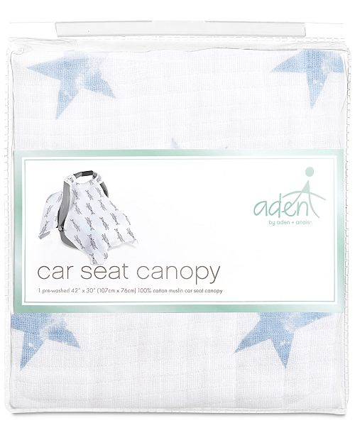 Aden By Anais Baby Boys Cotton Dapper Printed Car Seat Canopy