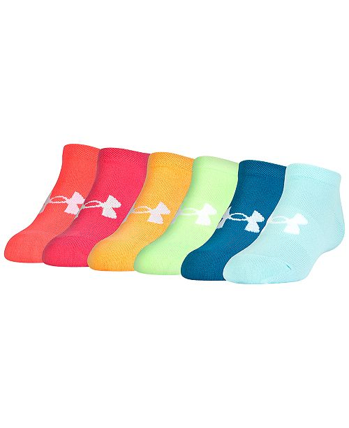 f67288a8217b7 Under Armour Women's 6 Pack Liner No Show Socks & Reviews - Handbags ...