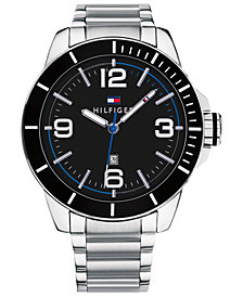 Tommy Hilfiger Men's Stainless Steel Bracelet Watch 46mm, Created for Macy's