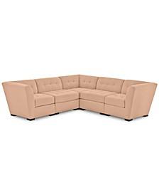 "Roxanne II Performance Fabric 5-Pc. ""L"" Modular Sofa, Created for Macy's"