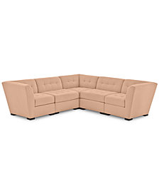 "Roxanne II Performance Fabric 5-Pc. ""L"" Modular Sofa - Custom Colors, Created for Macy's"
