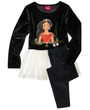 Disneys Princess Elena Skirted Tunic  Leggings Set Little Girls (46X)