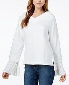 J.O.A. Pleated-Cuff Sweatshirt
