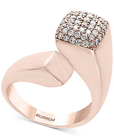 Pavé Rose by EFFY® Diamond Bypass Ring (1/2 ct. t.w.) in 14k Rose Gold