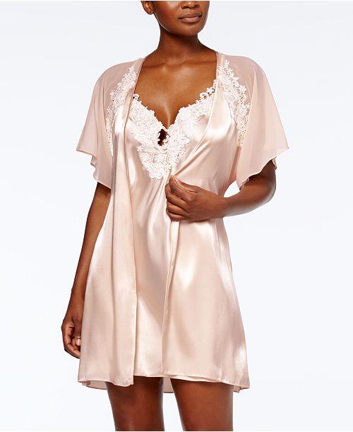 ba4920dd57 ... Linea Donatella Satin Secret Love Chemise   Wrap Robe Sleep Separates  ...
