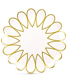 by Laura Johnson Scallop-Edge Gold Dinner Plate