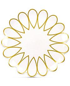 Coton Colors Scallop-Edge Gold Dinner Plate