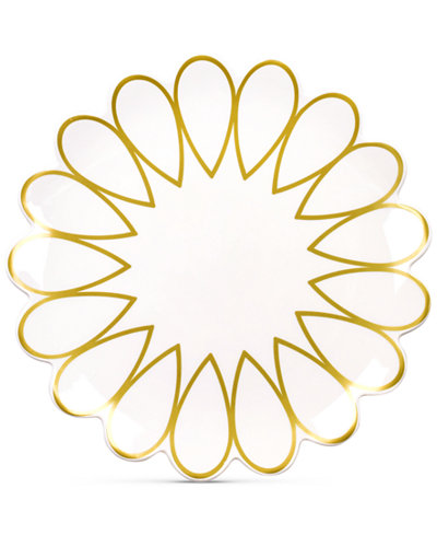 Coton Colors Scallop-Edge Gold Dinner Plate