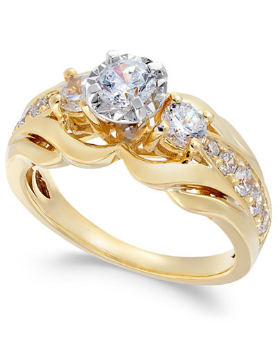 Diamond Engagement Ring (1 ct. t.w.) in 14k Gold