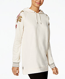 One Hart Juniors' Embroidered Hoodie Tunic, Created for Macy's
