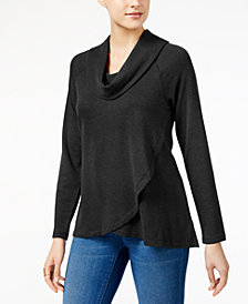 Style & Co Cowl-Neck High-Low Tunic, Created for Macy's