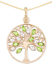 Simone I. Smith Crystal Tree of Life Pendant Necklace in 18k Gold over Sterling Silver