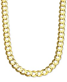 "26"" Curb Link Chain Necklace (10mm) in Solid 10k Gold"