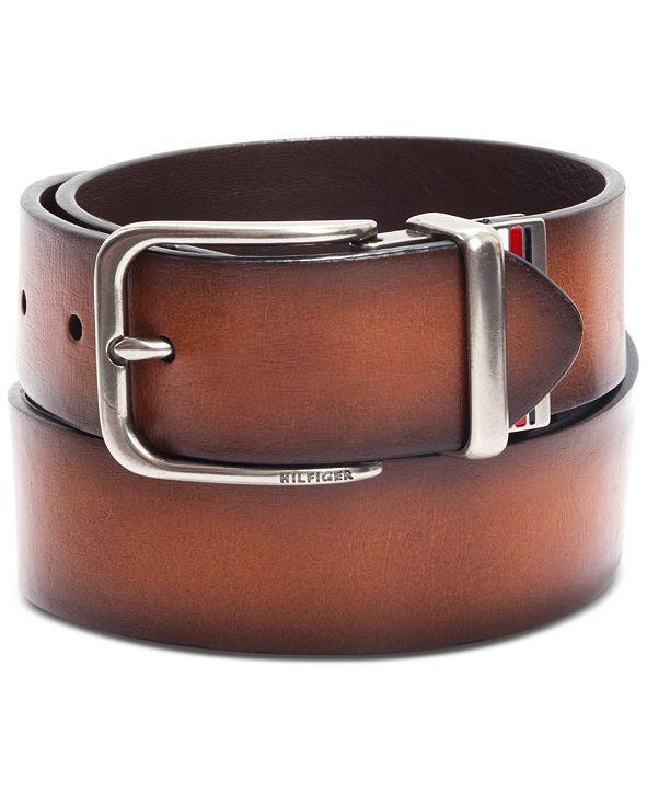 Tommy Hilfiger Men's Reversible Logo Belt