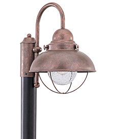 Sea Gull Outdoor Lighting, Sebring Weathered Copper Post Lantern