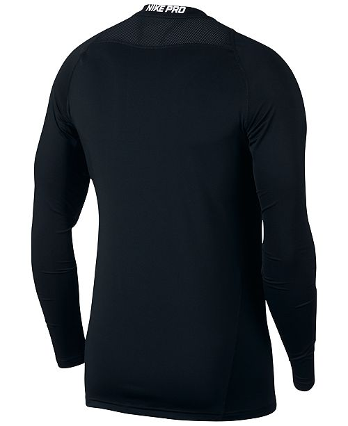 fbd63e8a9 Nike Men s Pro Fitted Long Sleeve Training Shirt   Reviews - T ...