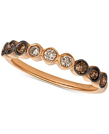 Chocolate & Nude® Diamond Band (3/8 ct. t.w.) in 14k Rose Gold