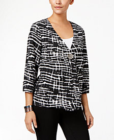 JM Collection Petite One-Button Jacket, Created for Macy's