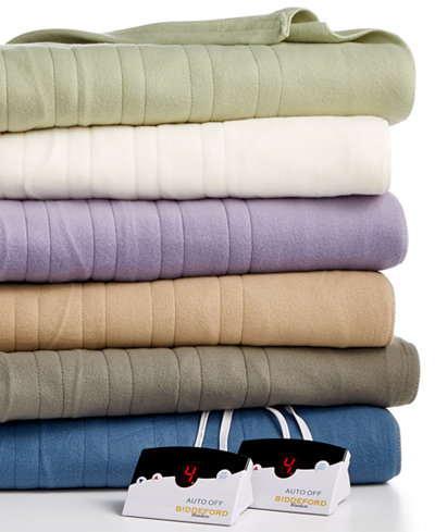 Biddeford Comfort Knit Fleece Heated Blankets