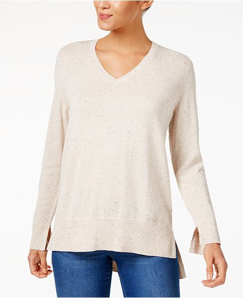 b5a65d7b40 ... Style   Co Cotton High-Low Sweater