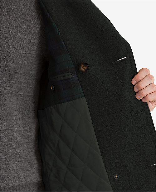 Lauren Ralph Lauren Luke Solid Wool-Blend Peacoat - Coats -1936