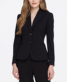 Tahari ASL Two-Button Blazer, Regular & Petite