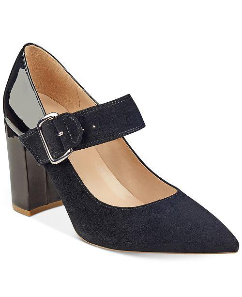 755a93354 Tommy Hilfiger Ventur Block-Heel Pumps   Reviews - Pumps - Shoes ...