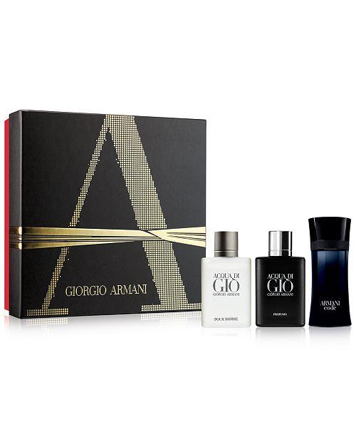 Giorgio Armani 3-Pc. Coffret Gift Set - All Cologne - Beauty - Macy s a8e1d17810c5