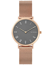 Skagen Women's Hald Rose Gold-Tone Stainless Steel Bracelet Watch 34mm