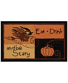 "Nourison Eat, Drink & Be Scary 20"" x 30"" Accent Rug"