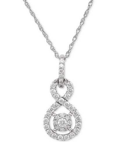 Diamond twist pendant necklace 12 ct tw in sterling silver diamond twist pendant necklace 12 ct tw in sterling silver aloadofball Images