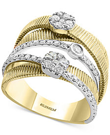 Duo by EFFY® Diamond Multi-Band Ring (3/4 ct. t.w.) in 14k Gold & White Gold