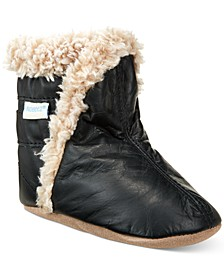 Classic Booties with Faux-Fur Trim, Baby Boys