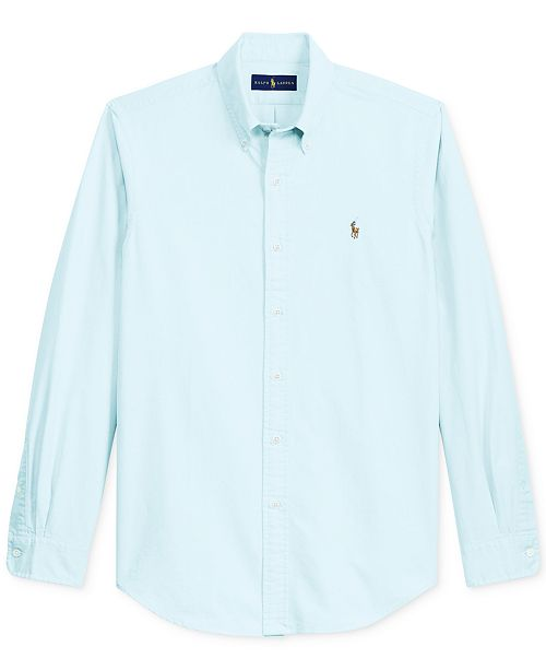 9c074bfd4651 Polo Ralph Lauren Men s Classic Fit Long Sleeve Solid Oxford Shirt ...