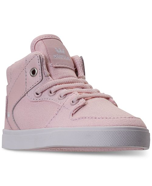24f520feea ... SUPRA Toddler Girls' Vaider High-Top Casual Sneakers from Finish ...