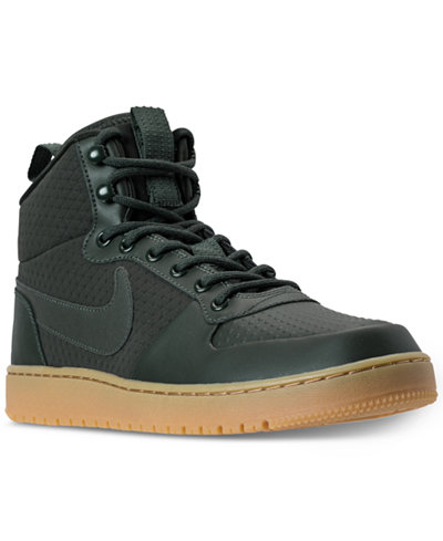 nike men 39 s court borough mid winter outdoor casual sneakers from finish line finish line. Black Bedroom Furniture Sets. Home Design Ideas