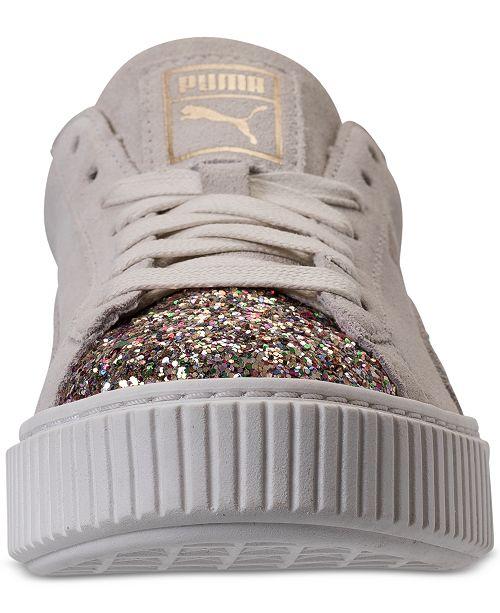 1211095446ec Puma Women s Suede Platform Crushed Gem Casual Sneaker   Reviews ...