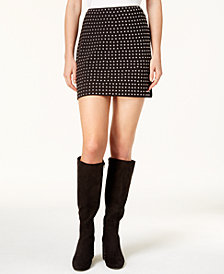 Bar Iii Studded Mini Skirt Created For Macy S