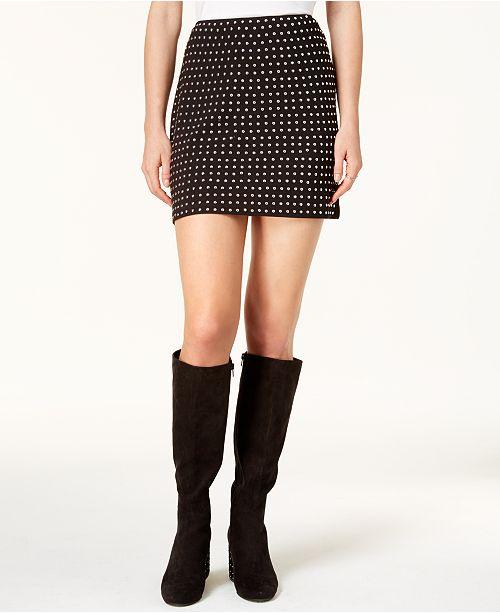 bfbdf5f8013 Bar III Studded Mini Skirt, Created for Macy's & Reviews - Skirts ...