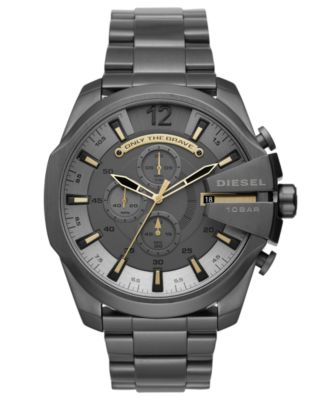 Men's Chronograph Mega Chief Gunmetal Stainless Steel Bracelet Watch 51mm