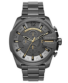 Diesel Men's Chronograph Mega Chief Gunmetal Stainless Steel Bracelet Watch 51mm