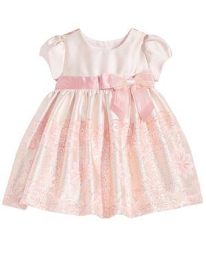 Bonnie Baby Metallic Jacquard Dress, Baby Girls thumbnail
