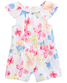 First Impressions Butterfly-Print Romper, Baby Girls, Created for Macy's