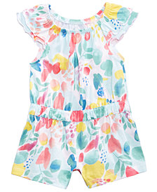 First Impressions Aloha Floral-Print Romper, Baby Girls, Created for Macy's