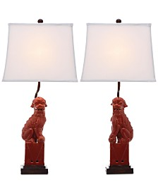 Safavieh Foo Dog Set of 2 Table Lamps