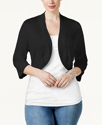 Jessica Howard Plus Size Shrug Cardigan - Sweaters - Women - Macy's