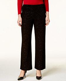 Alfani Petite Glitter Wide-Leg Pants, Created for Macy's