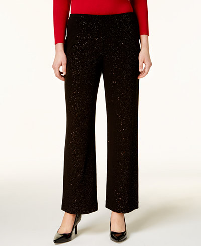 Alfani Glitter Wide-Leg Pants, Created for Macy's